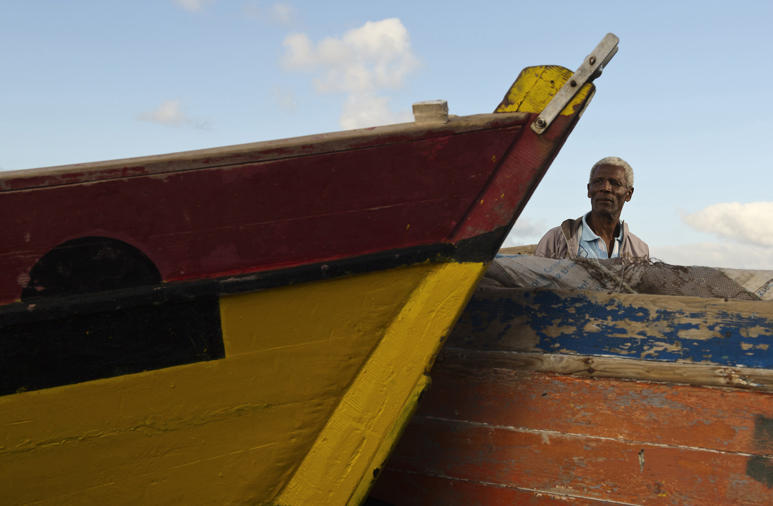 Salamansa, Cape Verde. Armando Louis Fortes, Fishermen from Salamansa, Sao Vicente Fishermen Association, explains the decrease of fish stock in Cape Verde is due to the overfishing by the EU-fleet in West Africa region.