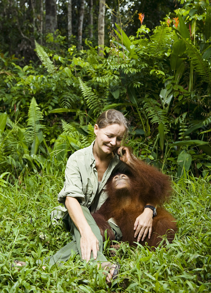 Portrait of Lone Droscher Nielsen, founder of Borneo Orangutan Survival.