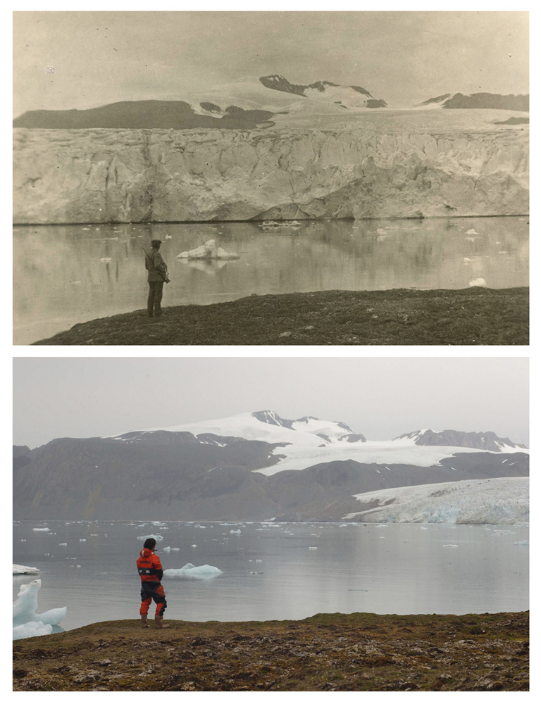 Greenpeace documentation showing that glacier