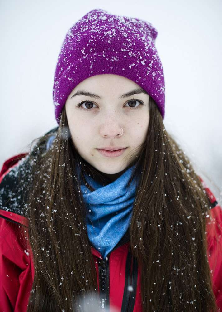 Portrait of Greenpeace activist Monica Laflamm from Canada.
