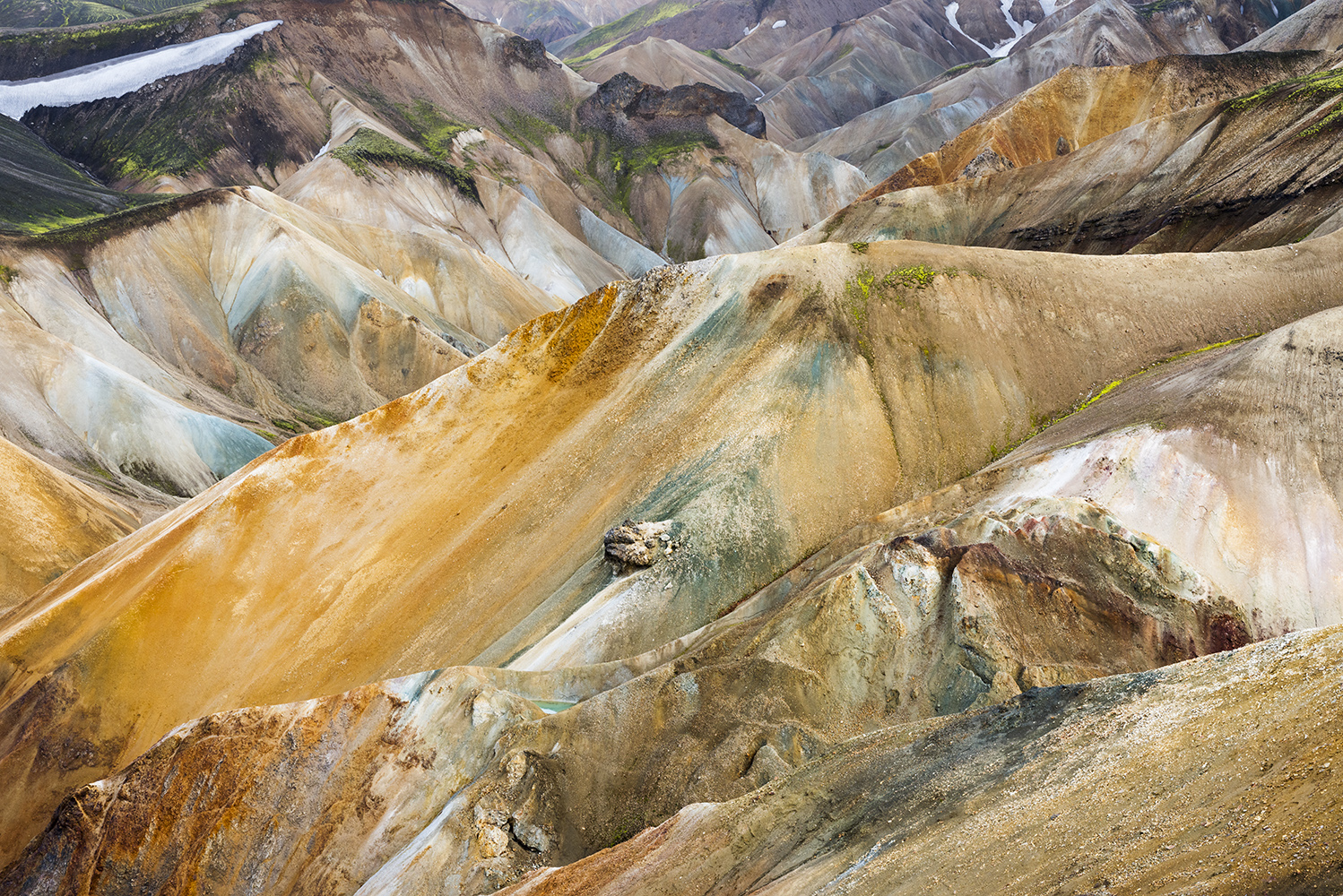 Colorful rhyolite mountains at Landmannalaugar, Fjallabak Nature Reserve, Highland of Iceland