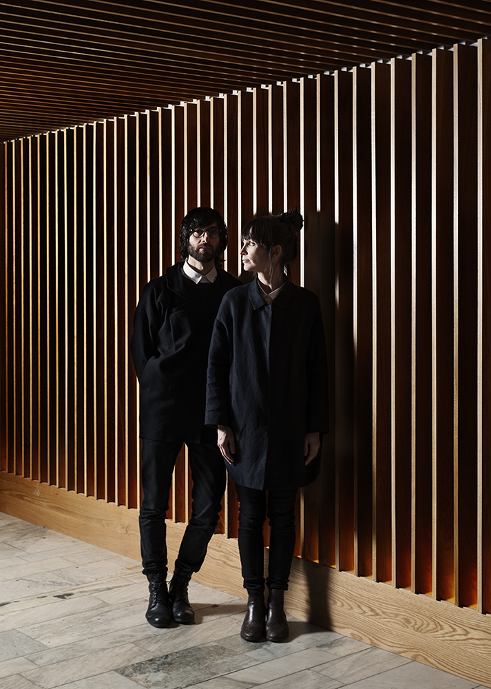 Portrait Gamfratesi design duo, danish architect Stine Gam and italian architect Enrico Frates, for Onoffice Magazine