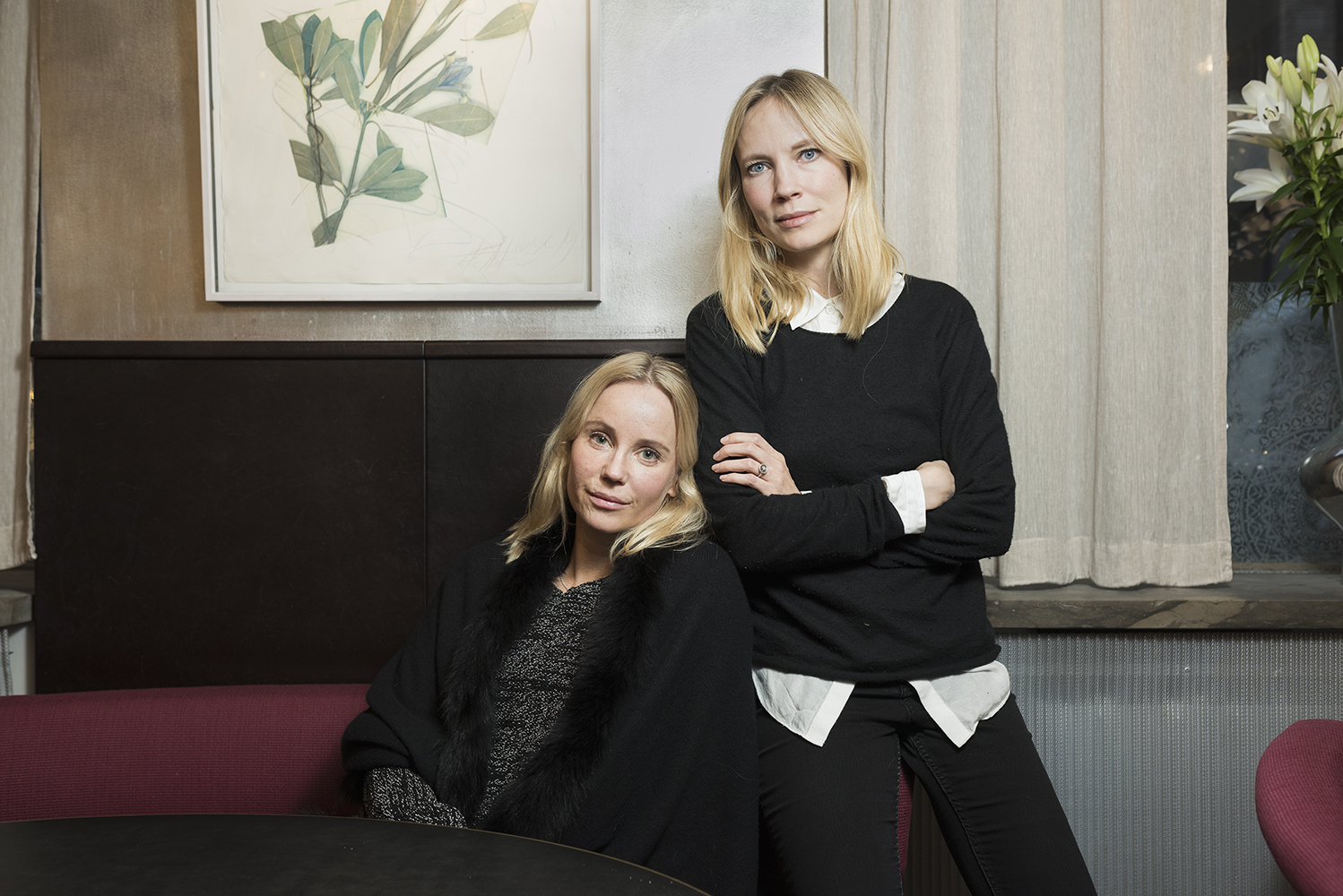 Portrait of actors Sofia Helin and Moa Gammel for a reportage about the #metoo movement in Sweden. Client: Der Spiegel