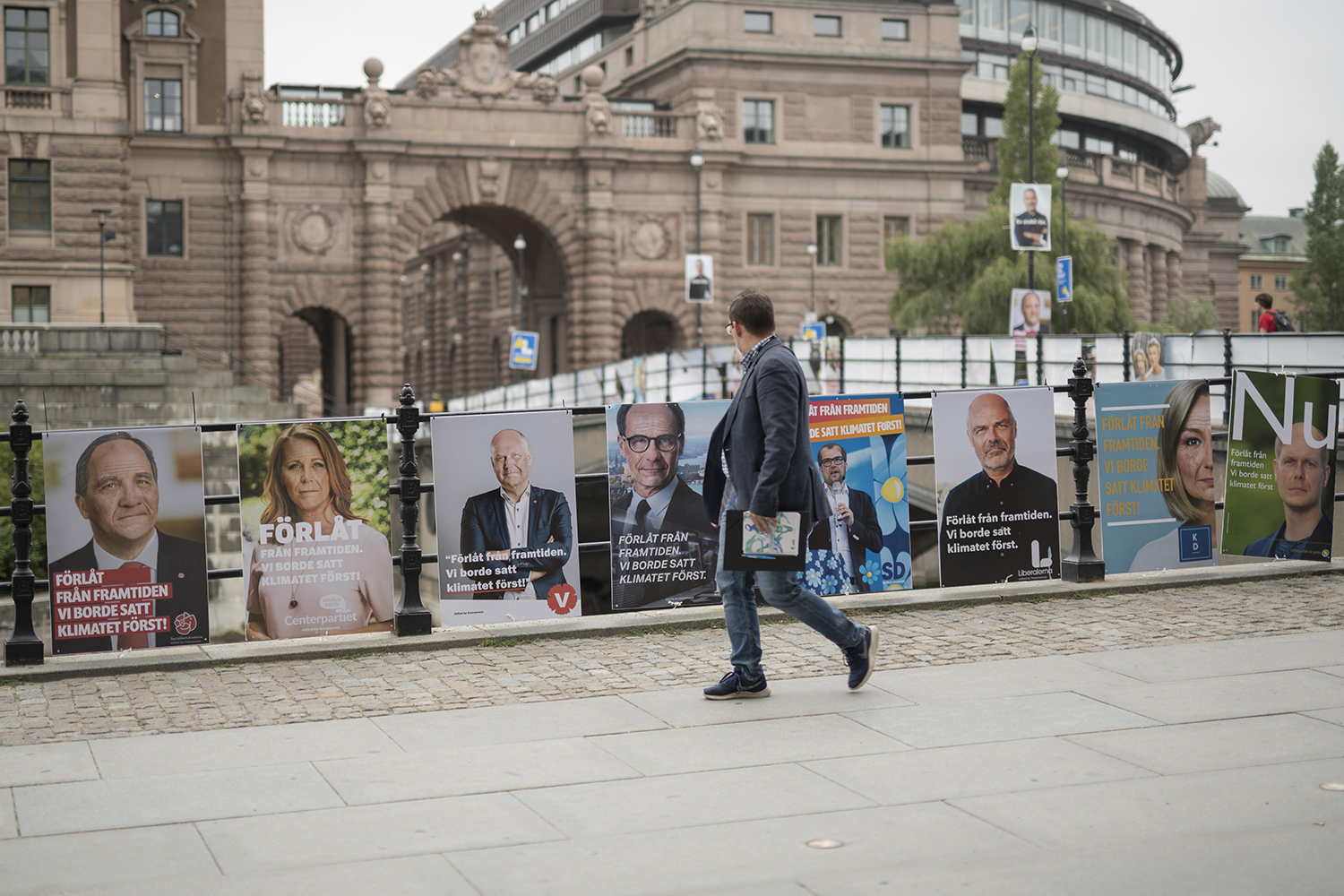 Art direction and manipulation of images for fake election posters of the eight parliamentary parties in Sweden before the election in September 2018. The party leaders where made to look older and apologised from the future, that they didn't act earlier with the climate issues before it was too late. The images were printed as usual election posters and deployed in Stockholm the week before the election.